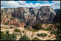 Backpackers on West Rim Trail. Zion National Park ( color)
