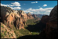 Zion Canyon and shadows from Angels Landing. Zion National Park ( color)