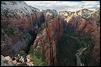 Hikers on Angels Landing Trail. Zion National Park ( color)