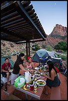 Gourmet dinner at Watchman Campground. Zion National Park ( color)