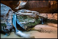 Waterfalls, Upper Subway. Zion National Park ( color)