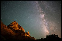Milky Way and Watchman. Zion National Park, Utah, USA.