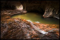 Clear stream flowing, the Subway. Zion National Park ( color)