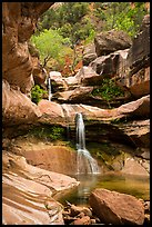 Pine Creek Falls in Pine Creek Canyon. Zion National Park ( color)
