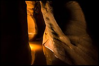 Light in flooded narrows, Pine Creek Canyon. Zion National Park ( color)