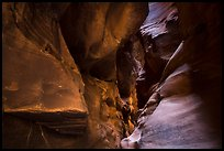 Sculptured slot canyon walls, Pine Creek Canyon. Zion National Park ( color)