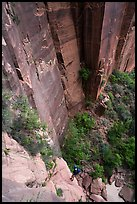 Final rappel in Behunin Canyon. Zion National Park, Utah ( color)