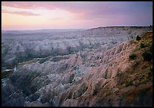 The Stronghold table, south unit, dawn. Badlands National Park ( color)