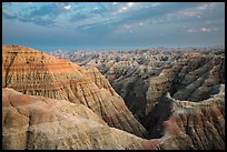 View from Big Badlands Overlook at sunset. Badlands National Park ( color)