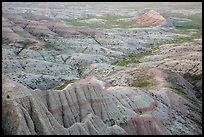 Pastel-colored badlands from Panorama Point. Badlands National Park ( color)