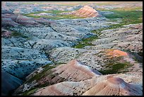 Eroded buttes at sunrise, Panorama Point. Badlands National Park ( color)