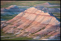 Badlands with bands of color. Badlands National Park, South Dakota, USA. (color)