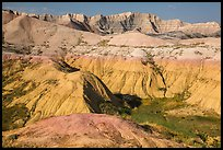 Badlands with yellow and red soils. Badlands National Park ( color)