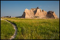 Castle Trail. Badlands National Park, South Dakota, USA. (color)
