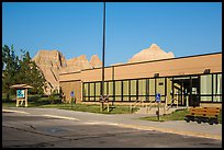Ben Reifel Visitor Center. Badlands National Park, South Dakota, USA.