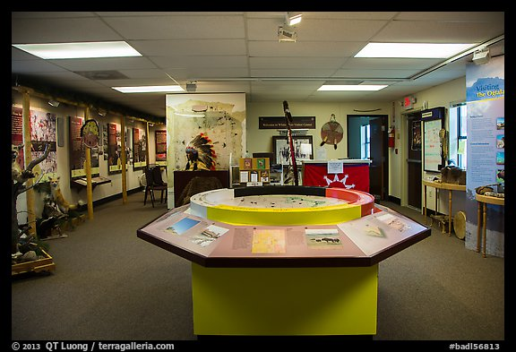 Inside White River Visitor Center. Badlands National Park (color)