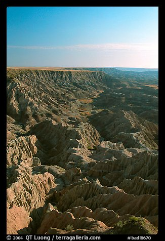 Looking east towards the The Stronghold table, South unit, morning. Badlands National Park (color)