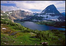 Hidden lake and peak. Glacier National Park ( color)