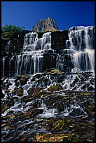 Waterfall at hanging gardens, Logan pass. Glacier National Park ( color)