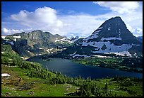 Hidden lake and peak. Glacier National Park, Montana, USA.
