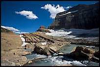 Outlet stream, Grinnell Glacier and Garden Wall. Glacier National Park, Montana, USA. (color)