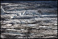 Crevasses on Grinnell Glacier. Glacier National Park, Montana, USA. (color)