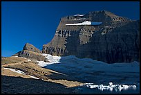 Garden wall above Upper Grinnell Lake and Glacier, late afternoon. Glacier National Park ( color)
