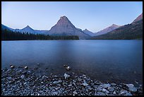 Two Medicine Lake at dawn. Glacier National Park ( color)