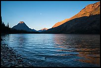 Two Medicine Lake at sunrise. Glacier National Park ( color)