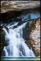 Lower Running Eagle Falls in autumn. Glacier National Park ( color)