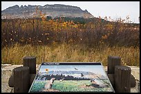 Prairie Edge interpretive sign. Glacier National Park ( color)