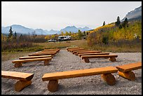 Amphitheater, Saint Mary Campground. Glacier National Park, Montana, USA.
