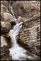Cascade below Apikuni Falls. Glacier National Park ( color)