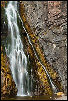 Lower tier of Apikuni Falls. Glacier National Park ( color)