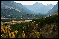 Many Glacier Valley in autumn. Glacier National Park ( color)