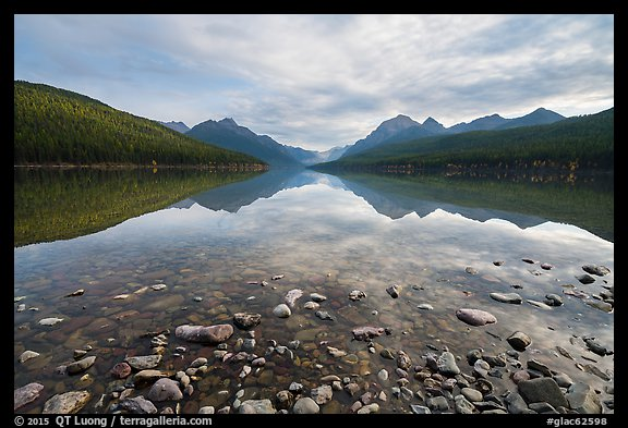 Bowman Lake. Glacier National Park (color)