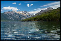 Kintla Lake with ripples. Glacier National Park ( color)