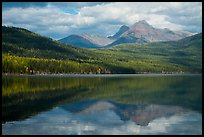Clouds and reflections, Kintla Lake. Glacier National Park ( color)