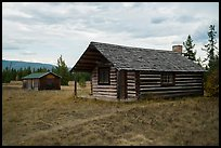 Historic cabins. Glacier National Park ( color)