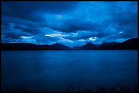 Ominous atmosphere on Lake McDonald at dawn. Glacier National Park ( color)