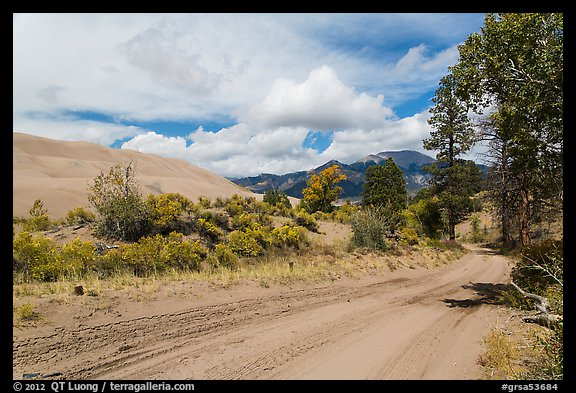 Medano Pass primitive road. Great Sand Dunes National Park and Preserve (color)