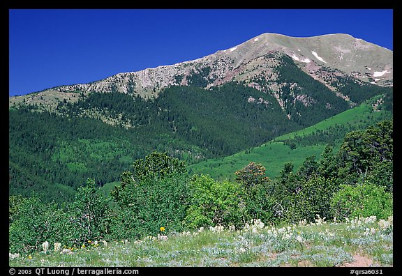 Sangre de Cristo Mountains near Medano Pass in summer. Great Sand Dunes National Park and Preserve (color)