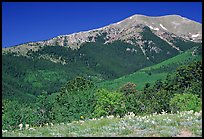 Sangre de Cristo Mountains near Medano Pass in summer. Great Sand Dunes National Park and Preserve, Colorado, USA.