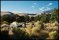Pinyon Flats campground. Great Sand Dunes National Park and Preserve ( color)