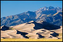 Star Dune and Sangre de Cristo Range, afternoon. Great Sand Dunes National Park and Preserve ( color)