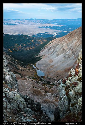 Medano Lakes from Mount Herard. Great Sand Dunes National Park and Preserve (color)