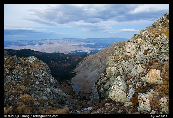 Ridge and Medano Lakes from Mount Herard. Great Sand Dunes National Park and Preserve (color)