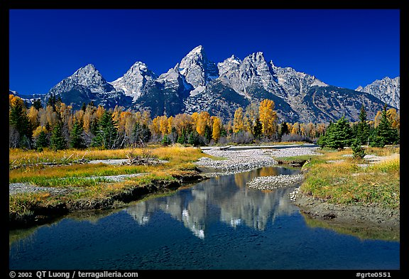 Picture photo grand teton and fall colors reflected at schwabacher landing grand teton - Beautiful panoramic view house to take full advantage of the scenery ...
