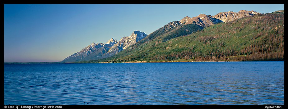 Lake and mountain range. Grand Teton National Park (color)