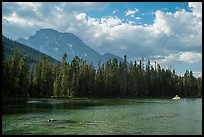 Mount Moran and String Lake, afternoon. Grand Teton National Park ( color)